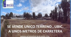 SE VENDE o SE RENTA, TERRENO a unos mtrs de carretera Tlacotepec de B.J. Puebla